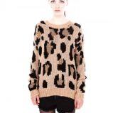 sweter Pull and Bear w panterk� w kolorze br�zowym - moda na jesie� 2013