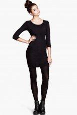 dopasowana sukienka H&M w kolorze czarnym - moda 2013/14