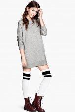 szara sukienka H&M - moda 2013/14