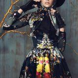 czarna sukienka Bizuu w kwiaty - jesie� 2013