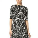 czarno-bia�a sukienka Orsay we wzorki - moda na zim� 2013/14