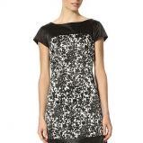 sukienka Orsay we wzorki w kolorze czarnym - moda 2013/14