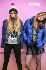 niebieska kurtka Sinsay pikowana - jesie�-zima 2013/14