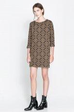 sukienka ZARA w kolorze khaki - moda na jesie� 2013