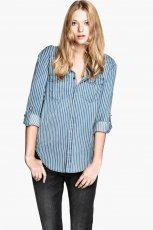 koszula H&M w kolorze niebieskim - jesie� i zima 2013/14