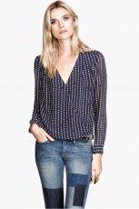 lu�na koszula H&M we wzorki - moda 2013/14