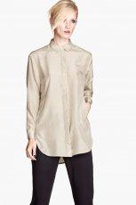elegancka koszula H&M w kolorze be�owym - moda na jesie�