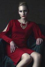 czerwona sukienka Bialcon - z kolekcji jesie�/zima 2013/2014