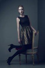 czarna sukienka Bialcon - moda jesie�/zima 2013/14