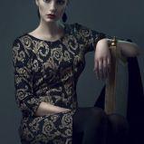 czarna sukienka Bialcon we wzory - jesie�-zima 2013/14