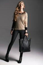czarne spodnie Reserved w panterk� - zima 2013/14