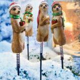 Magiczne figurki surykatki do ogrodu lub doniczki -Wigilia 2013