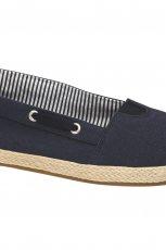 czarne slippersy Deichmann pikowane - jesie� 2014