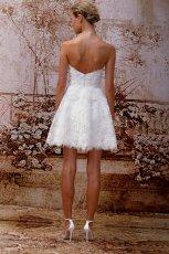 Sukienka �lubna mini - ty�