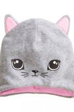 szara czapka H&M - kotek