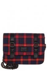 czerwona torebka Pepe Jeans w krat�