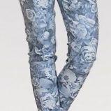 niebieskie spodnie Happy mum w kwiaty ci��owe - jesie�-zima 2014/2015