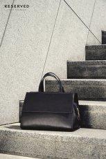 czarna torebka Reserved - jesie� 2014