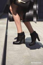czarne botki Reserved na s�upku - jesie� 2014
