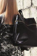 czarna torebka Reserved z zamkiem - jesie� 2014
