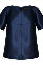 granatowa bluzka Mohito sk�rzana - jesie�-zima 2014/2015