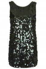 czarna sukienka Topshop z cekinami