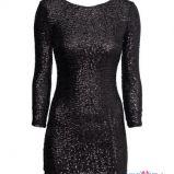 czarna sukienka H&M z cekinami