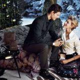 Anja Rubik i Sasha Knezevic w �wi�tecznej kolekcji marki Apart