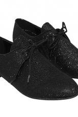 czarne buty Camaieu z cekinami