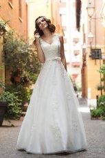 suknia �lubna Annais Bridal z kokardk� koronkowa