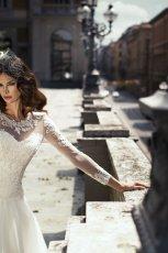suknia �lubna Annais Bridal z koronk� z d�ugam r�kawem