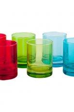 Kolorowe dodatki do kuchni: szklanki, F&F Home - cena 14.99 z� za 6 sztuk