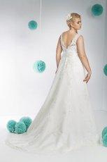suknia �lubna Annais Bridal z dekoltem  na plecach