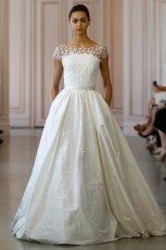 suknia �lubna Oscar de la Renta transparentna