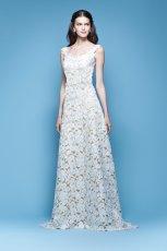 suknia �lubna Carolina Herrera a�urowa