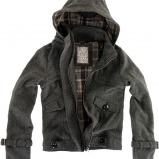 Marka: pull&bear.  Szara, ciekawie wykonana, krótka kurtka.