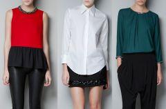 Koszule i bluzeczki Zara - jesie� i zima 2012/13