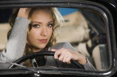 Kobieta za kierownic�