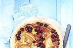 Tarta z gruszkami i cranberry