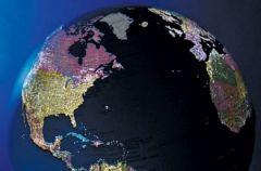 Globus ukazuj�cy dzie� i noc