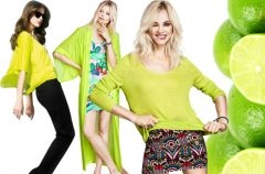 Sza�owa limonka - ubrania i dodatki w kolorze limonkowym