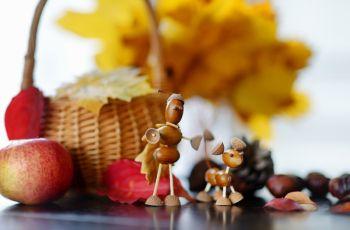 Gry i zabawy - Prace plastyczne z kasztan�w i �o��dzi - 5 super pomys��w