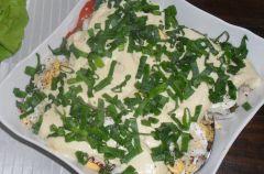 Warstwowa Salatka pomidorowo-jajeczna