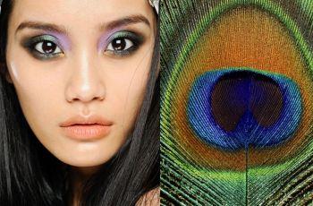 Makija� Cavalli inspirowany pawim pi�rem