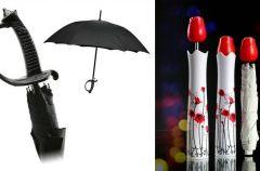 Parasol z procentem, wazon i miecz samuraja