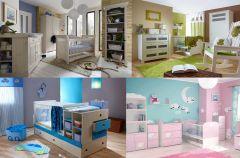 R�owe, niebieskie, bia�e i be�owe pokoiki dzieci�ce