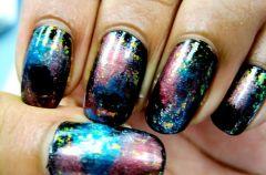 Paznokcie metaliczne, paznokcie galaktyczne