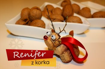 Renifer z korka - ozdoby �wi�teczne - bombki r�cznie robione