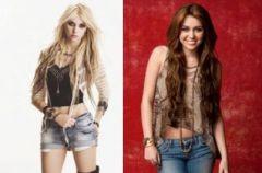 Taylor Momsen i Miley Cyrus na wojennej �cie�ce