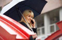 Pi�kna wiosn�  pod parasolem